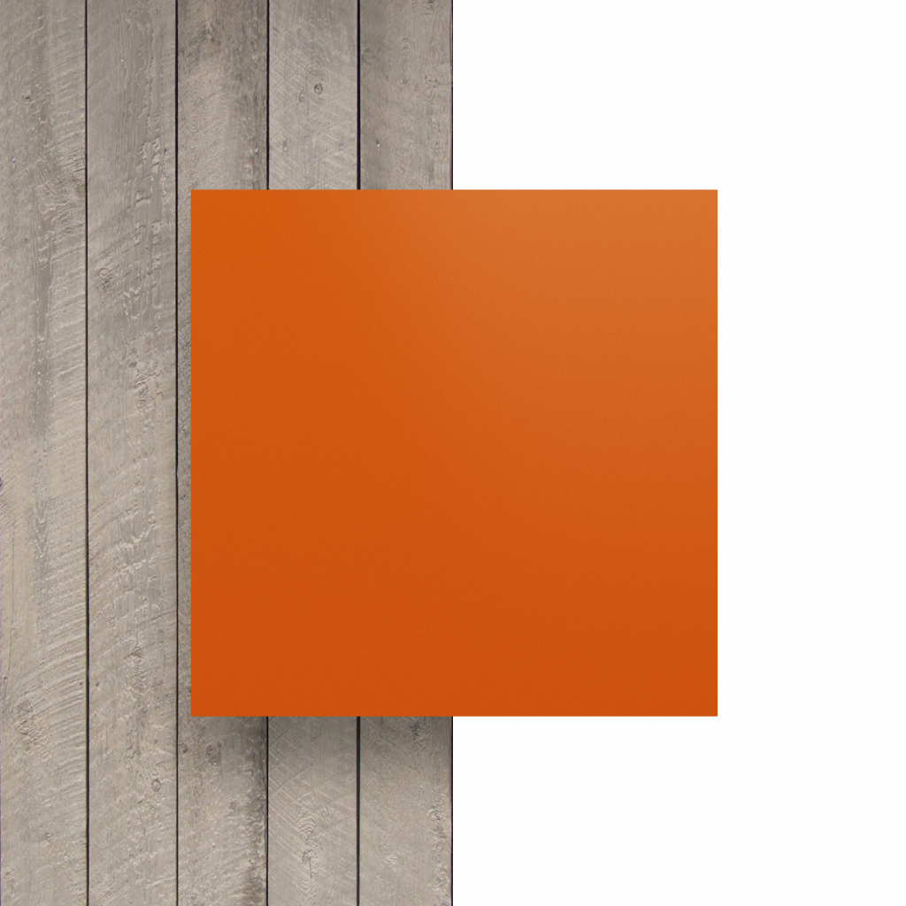 Devant plaque de lettres en acrylique orange mat