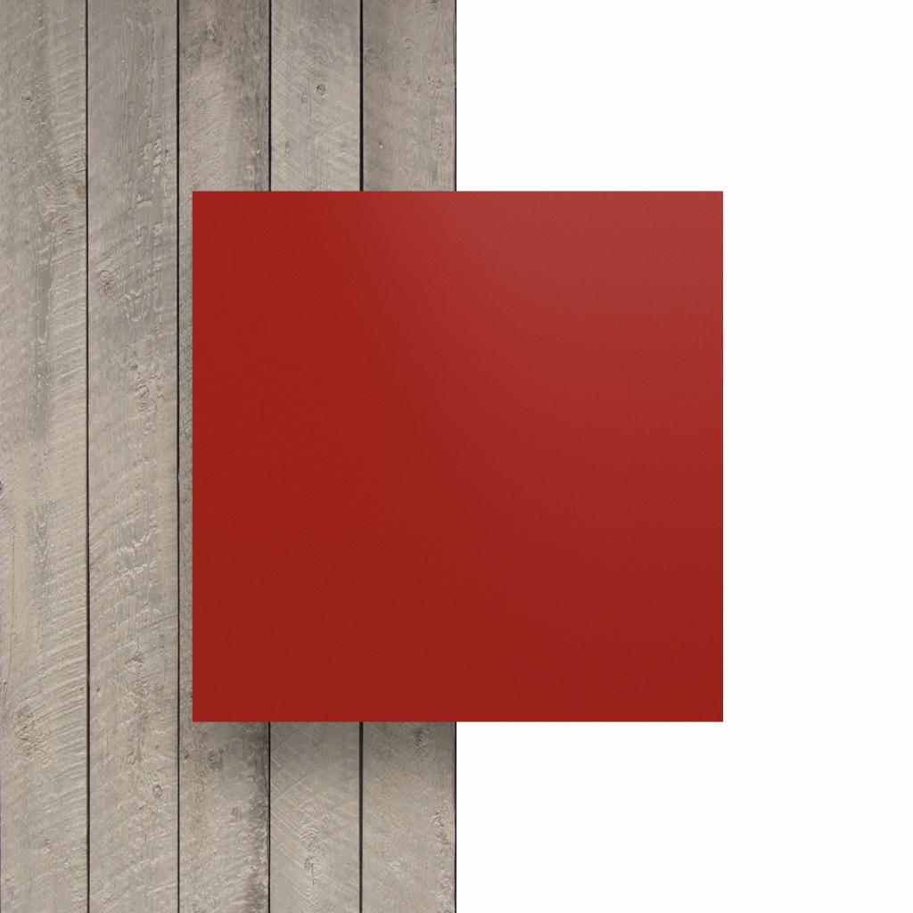 Devant plaque de lettres en acrylique rouge de securite mat