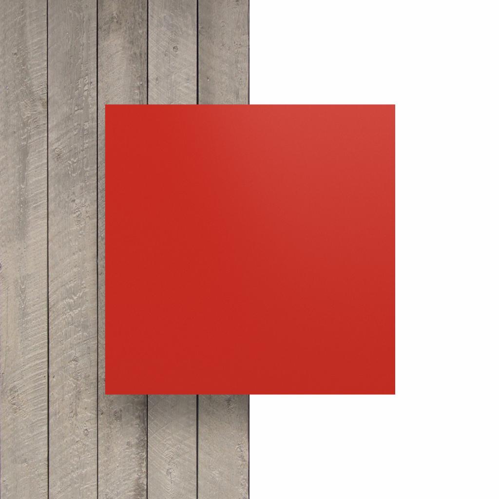 Devant plaque de lettres en acrylique rouge signalisation mat