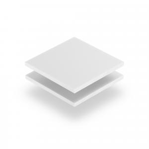 Plaque de lettres en acrylique blanc mat