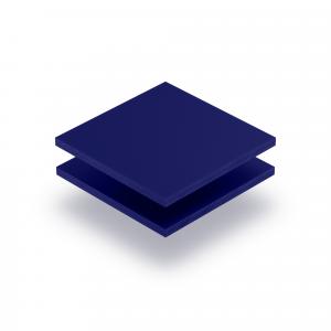 Plaque de lettres en acrylique bleu nocturne mat