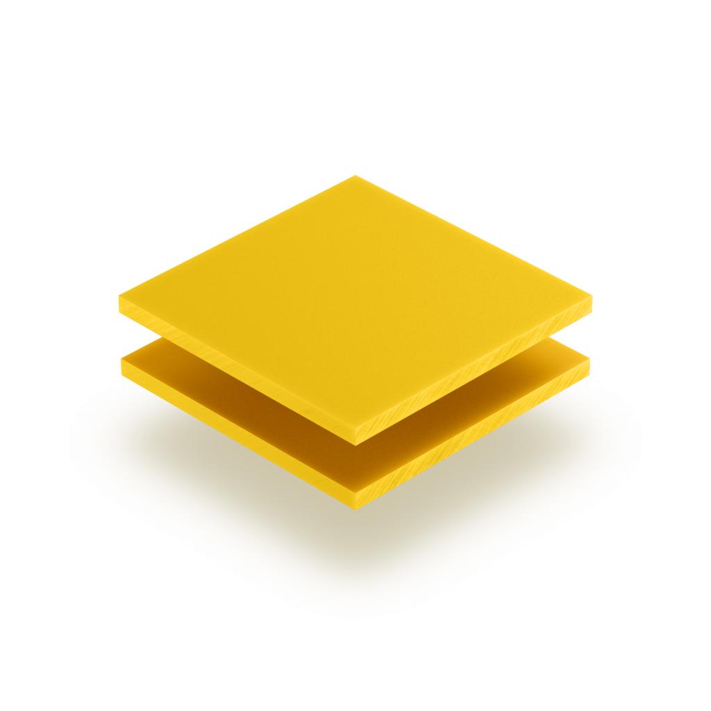 Plaque de lettres en acrylique jaune signalisation mat