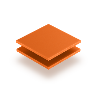 Plaque de lettres en acrylique orange mat