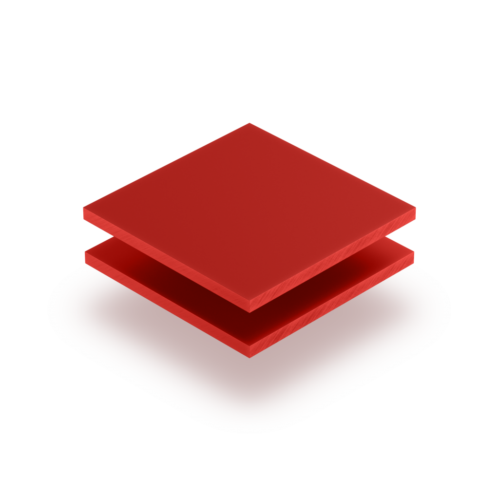 Plaque de lettres en acrylique rouge de securite mat