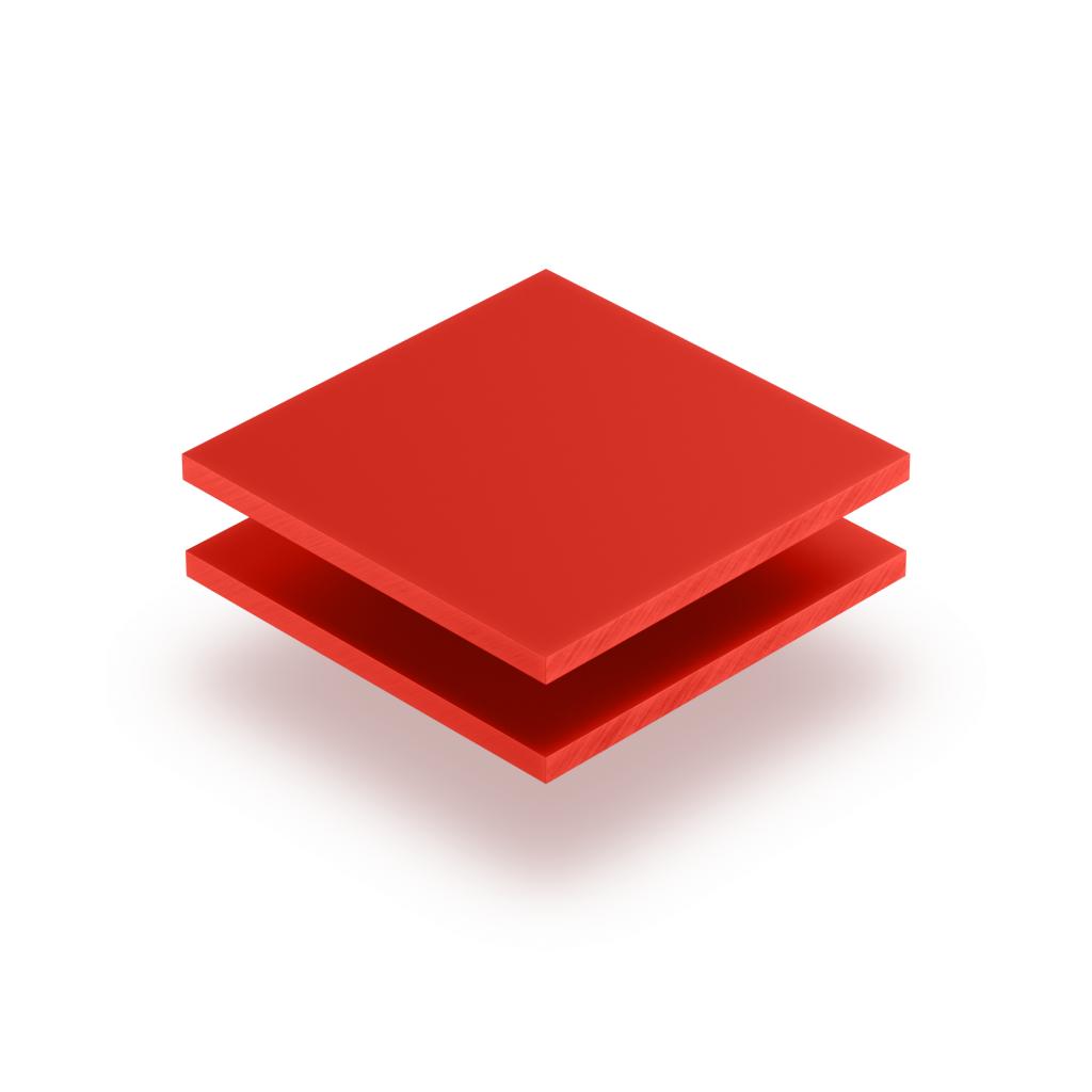 Plaque de lettres en acrylique rouge signalisation mat
