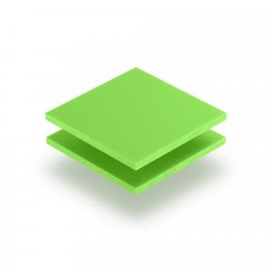 Plaque de lettres en acrylique vert jaune mat