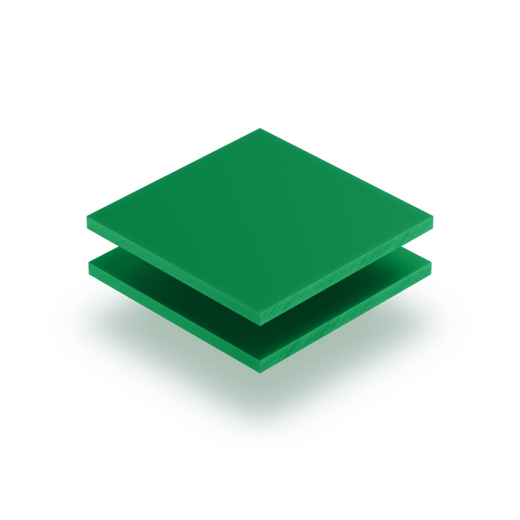 Plaque de lettres en acrylique vert menthe mat