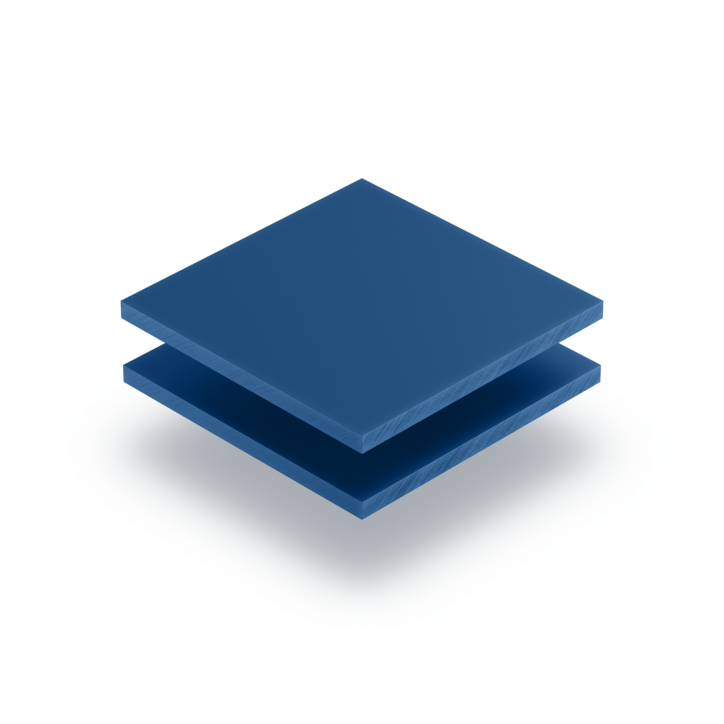 Plaque de lettres en acrylique bleu mat