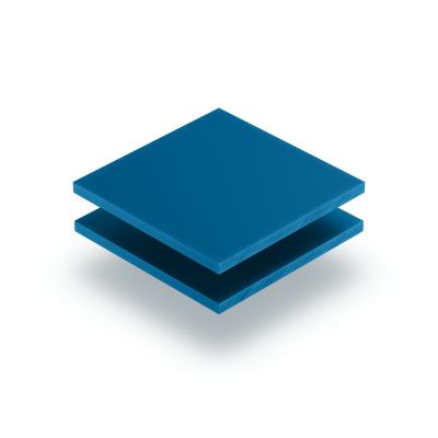 Plaque de lettres en acrylique bleu signalisation mat