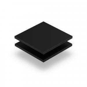 Plaque de lettres en acrylique noir mat