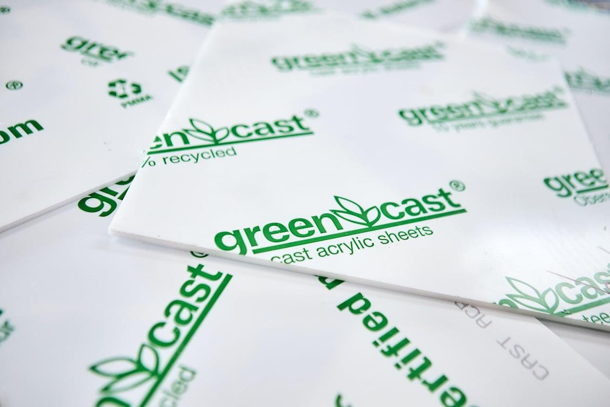 Plexiglas recyclé Green Cast